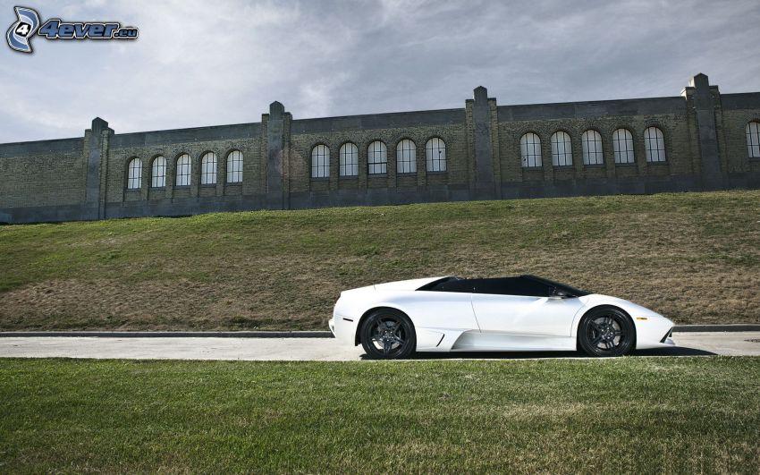 Lamborghini Murciélago, convertible, sports car, wall