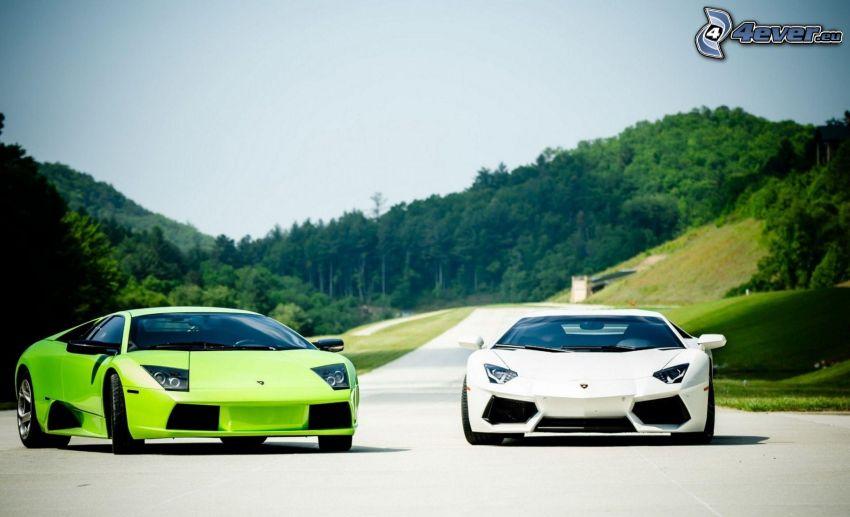 Lamborghini Murciélago, Lamborghini Aventador, road