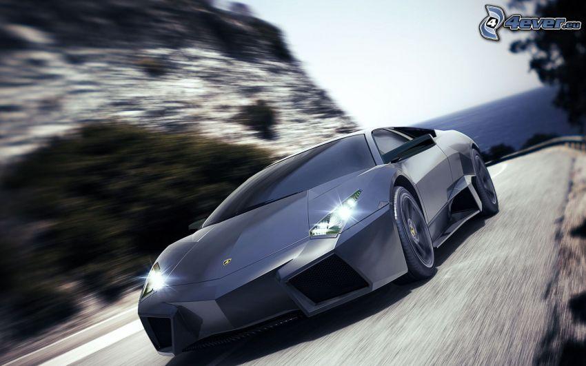 Lamborghini Reventón, lights, speed