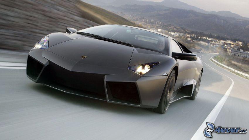 Lamborghini Reventón, road, speed