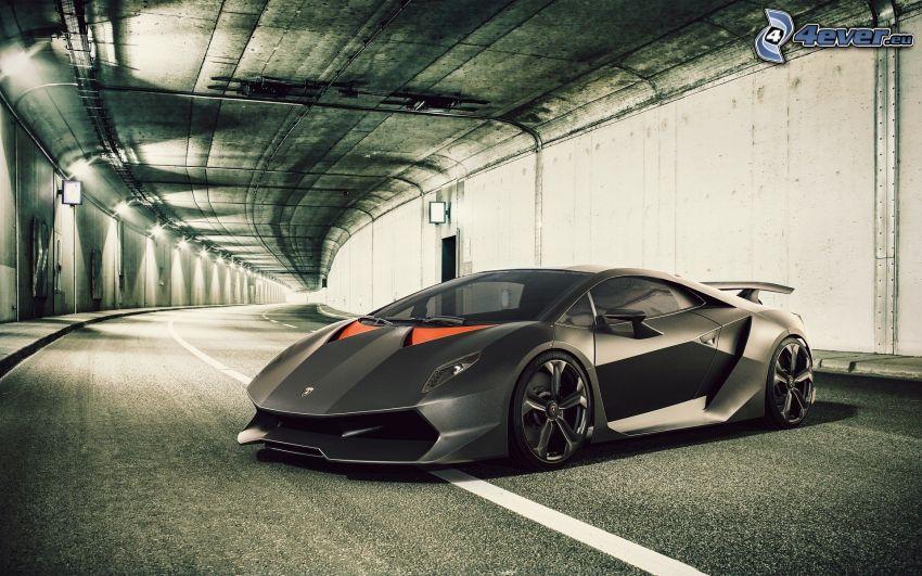 Lamborghini Sesto Elemento, tunnel