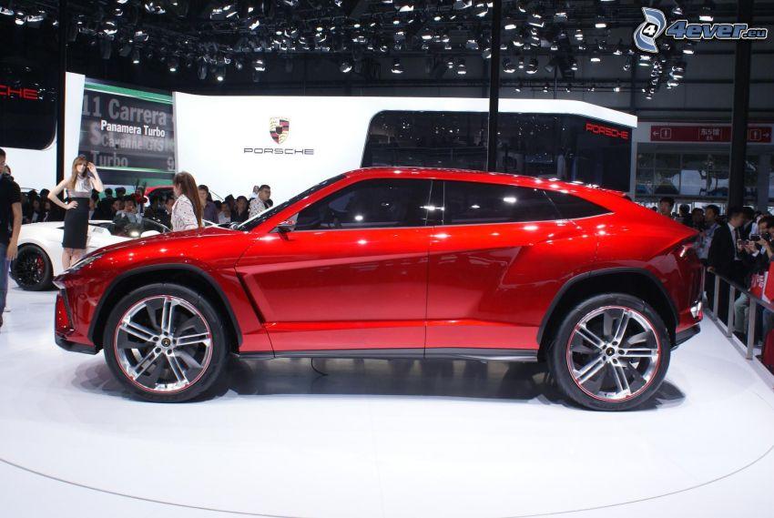 Lamborghini Urus, auto show, exhibition