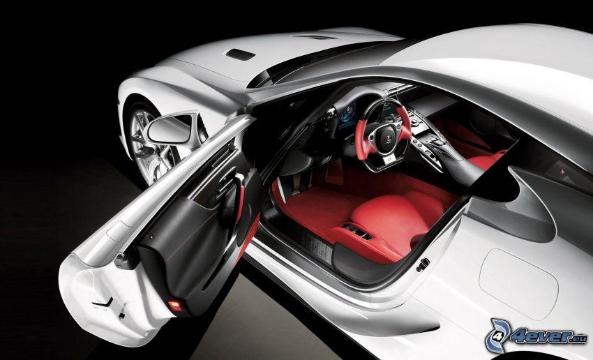 Lexus LFA, door, steering wheel