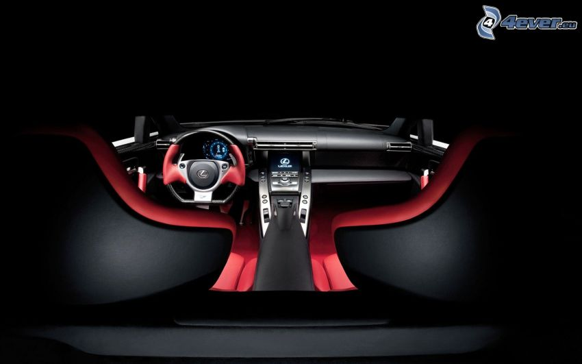 Lexus LFA, interior, steering wheel