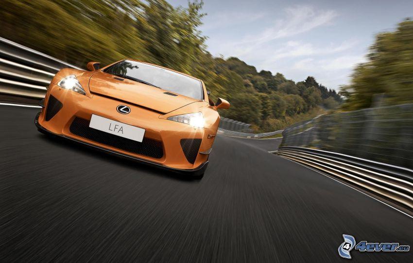 Lexus LFA, road, speed