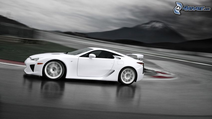 Lexus LFA, road curve, racing circuit