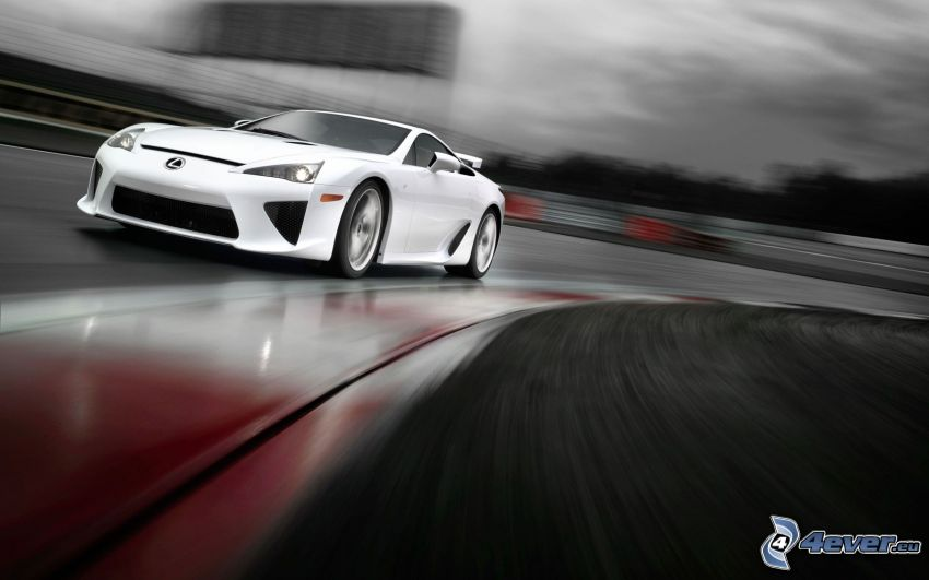 Lexus LFA, road curve, speed