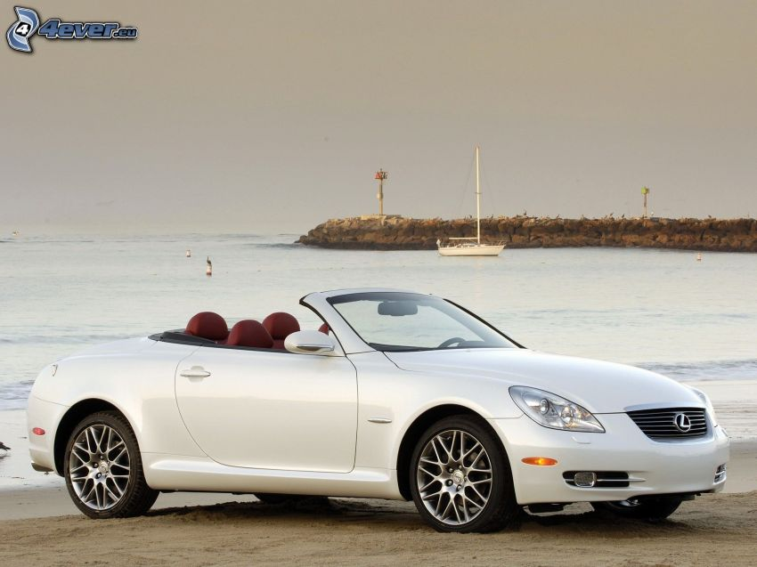 Lexus SC, convertible, sea, coast