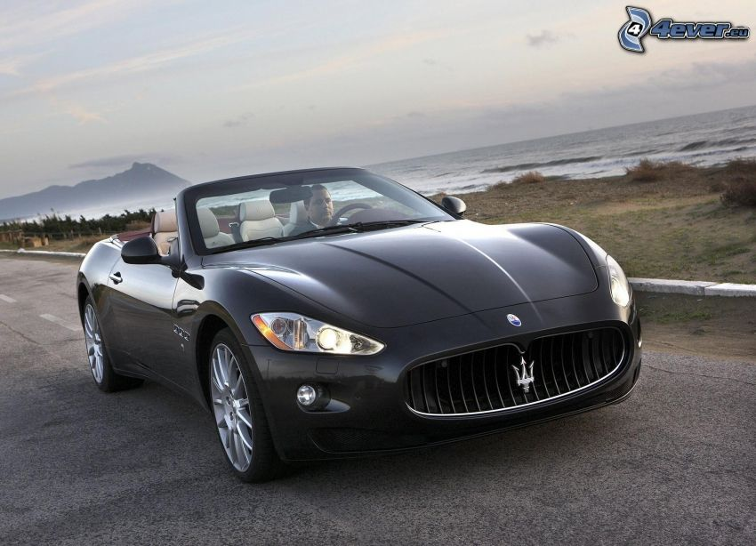 Maserati GranCabrio, convertible, man