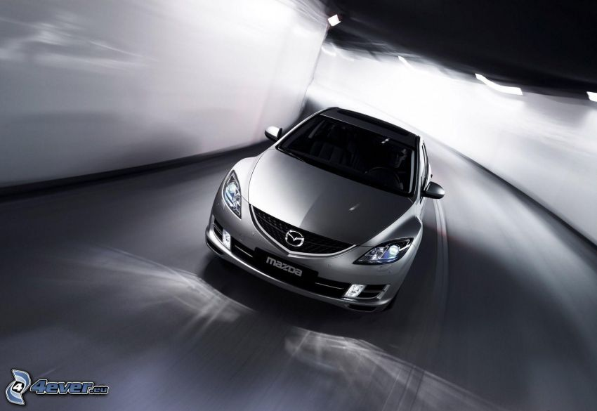 Mazda 6, tunnel, speed