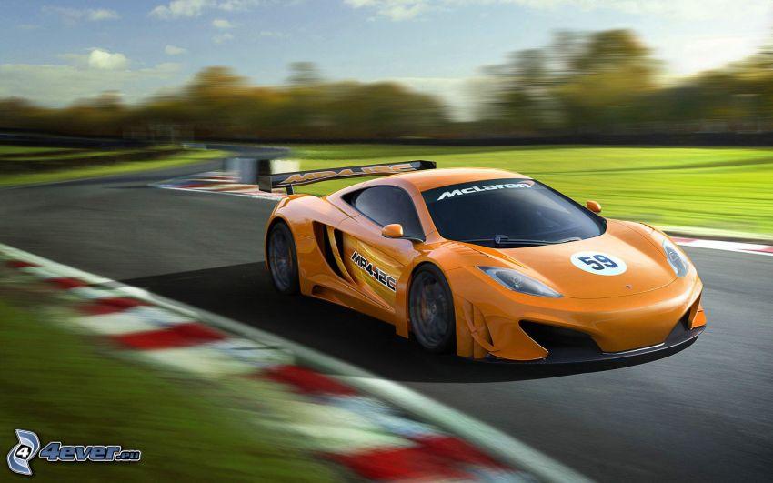 McLaren MP4-12C, speed