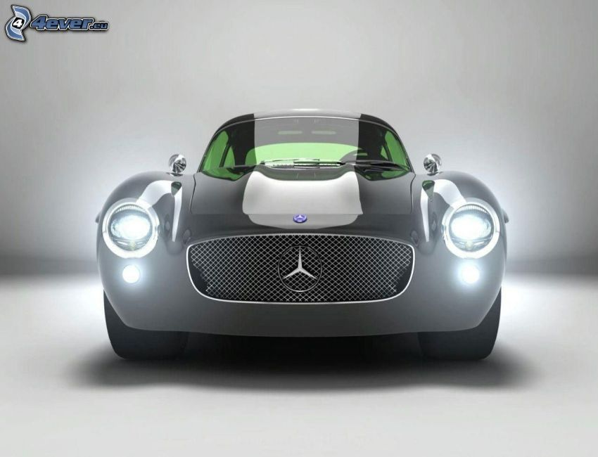 Mercedes, lights
