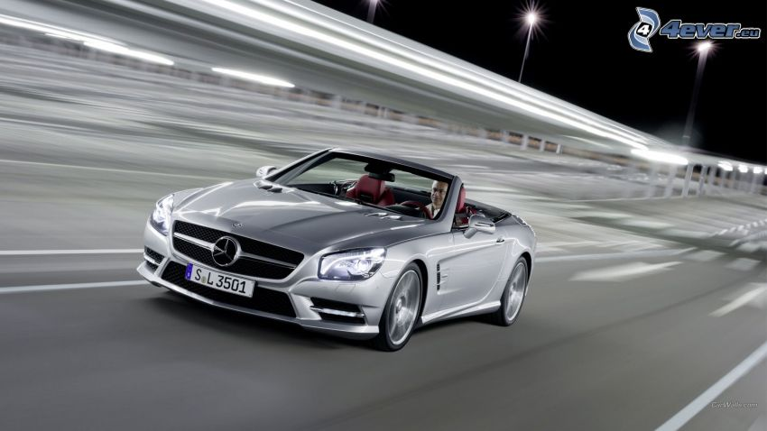 Mercedes-Benz, road, convertible