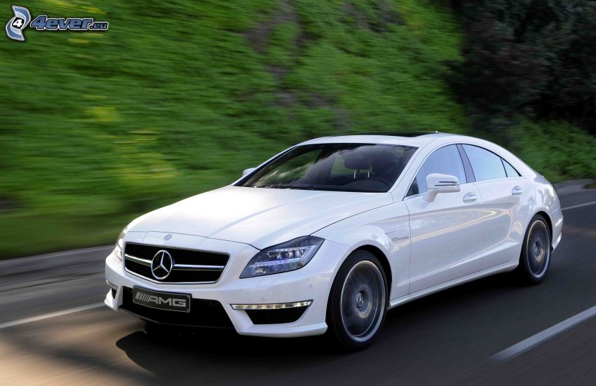Mercedes-Benz CLS, road, speed