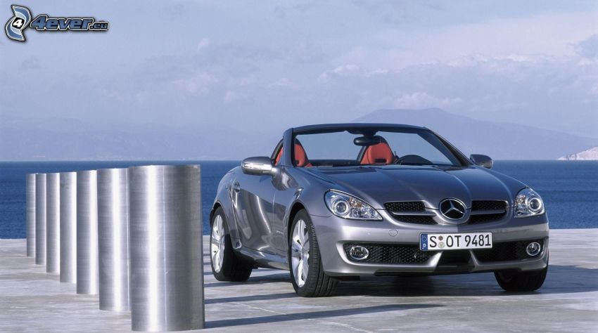 Mercedes-Benz SLK, convertible, sea