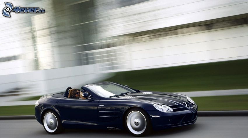 Mercedes-Benz SLR McLaren, convertible, speed