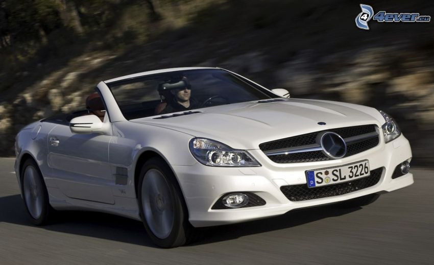 Mercedes SL, convertible, speed