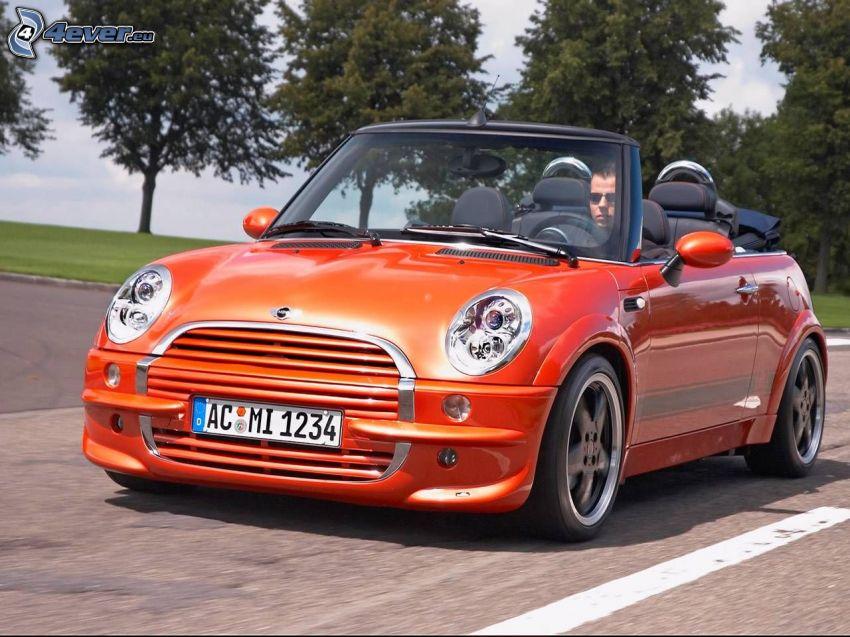 Mini Cooper, convertible, road