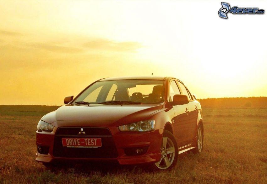 Mitsubishi Lancer, sunset