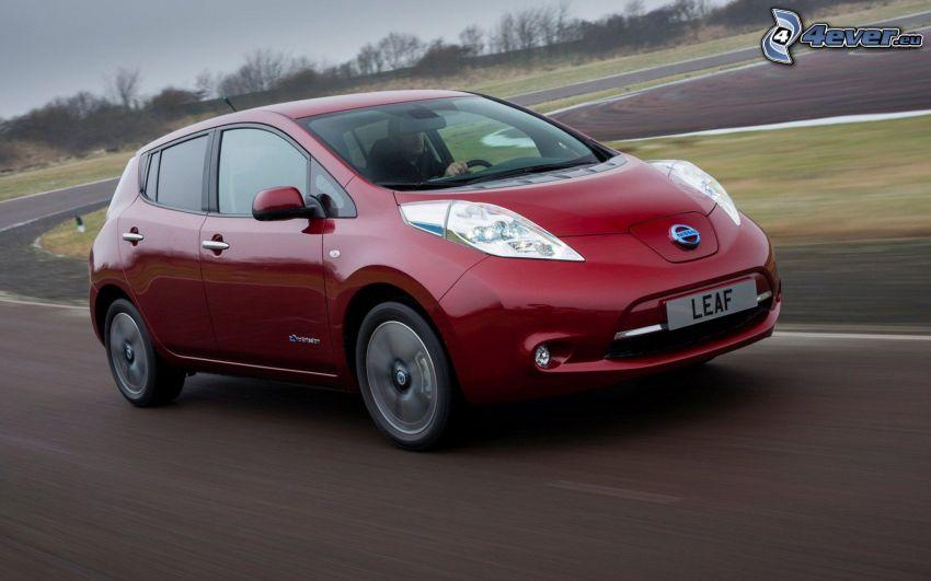 Nissan Leaf, road, speed