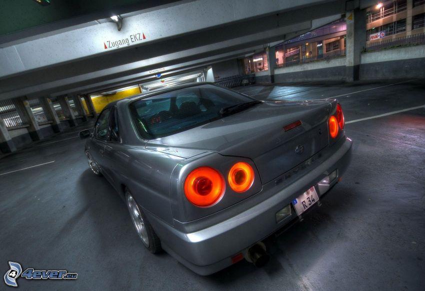 Nissan Skyline GT-R, car park