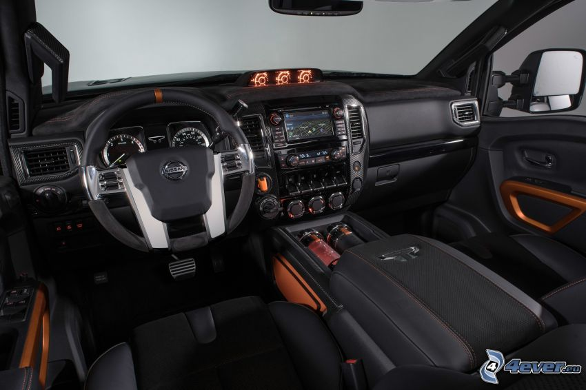 Nissan Titan, interior, steering wheel