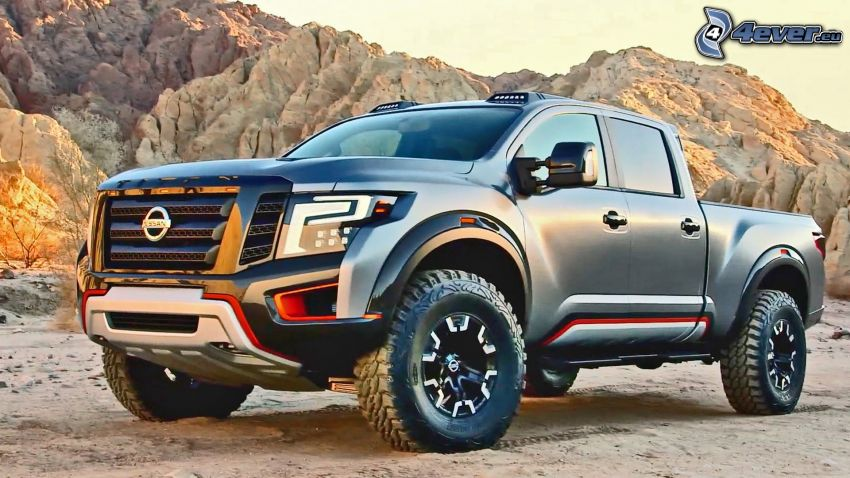 Nissan Titan, rocks