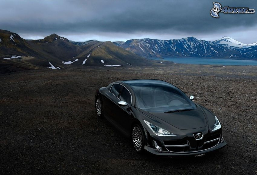 Peugeot 908, snowy mountains