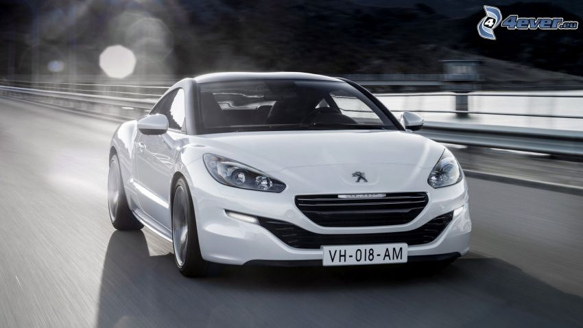 Peugeot RCZ, highway, speed