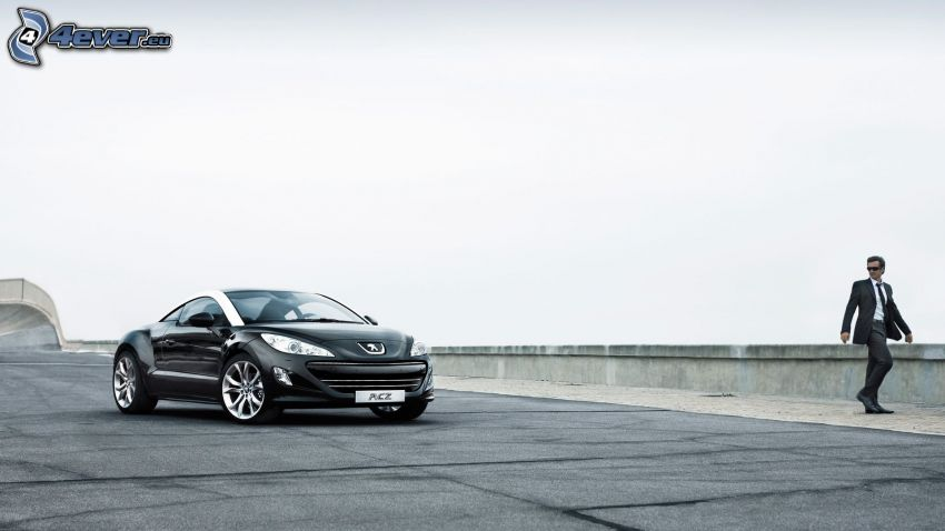 Peugeot RCZ, man in suit