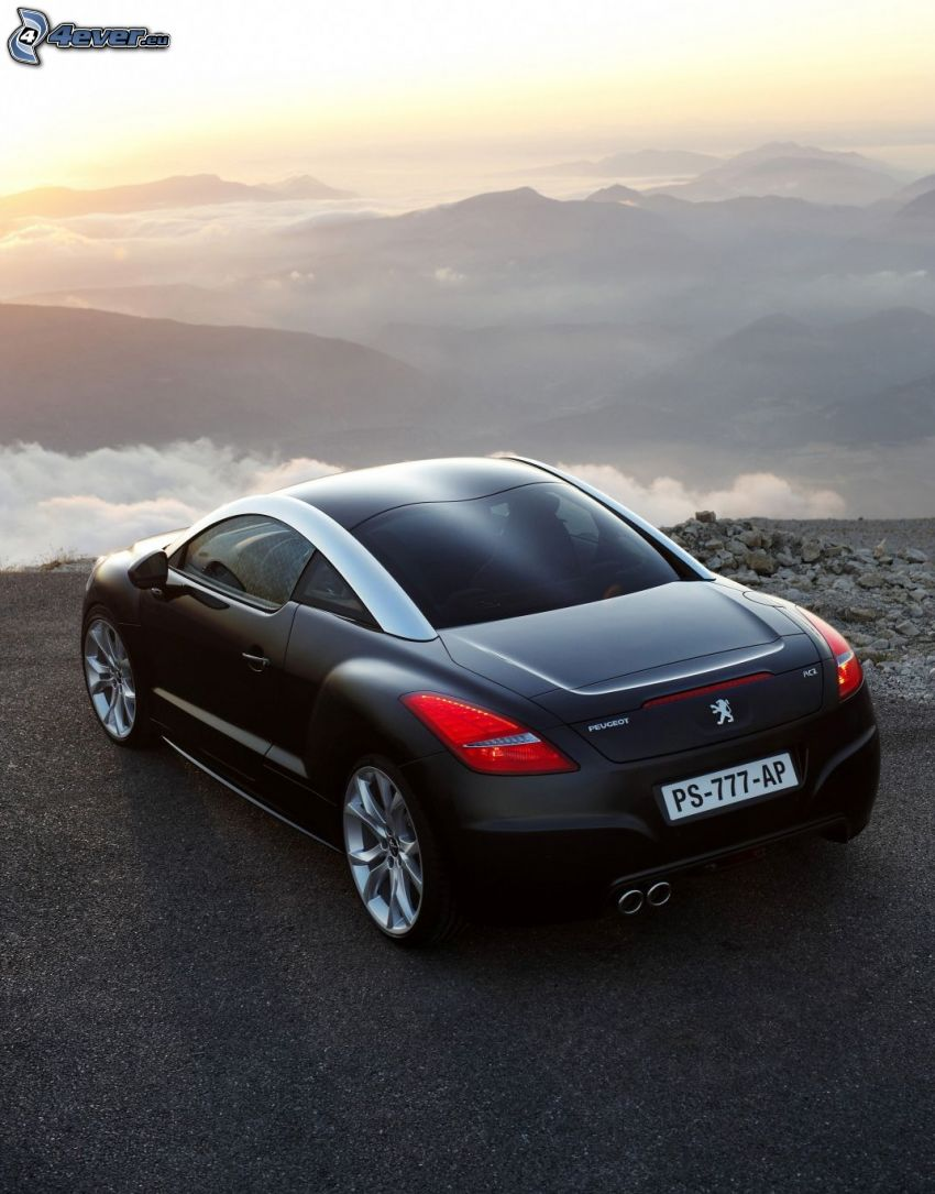Peugeot RCZ, over the clouds, mountain