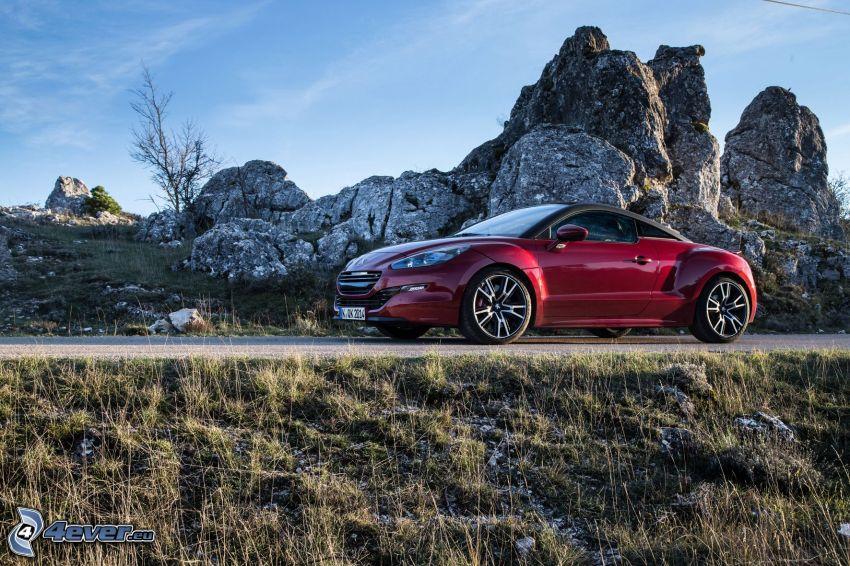 Peugeot RCZ, rocks