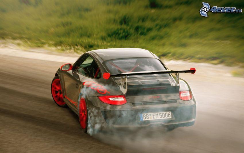 Porsche 911, drifting