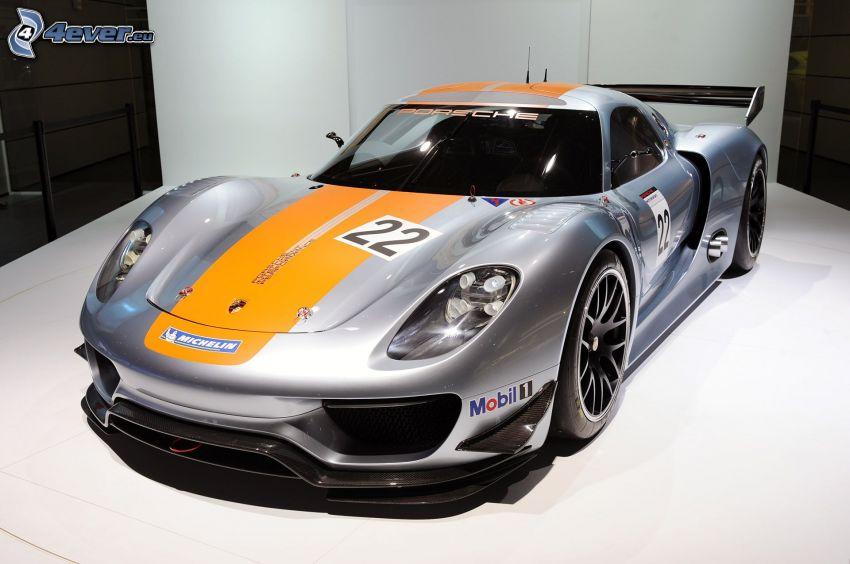 Porsche 918, exhibition, sports car