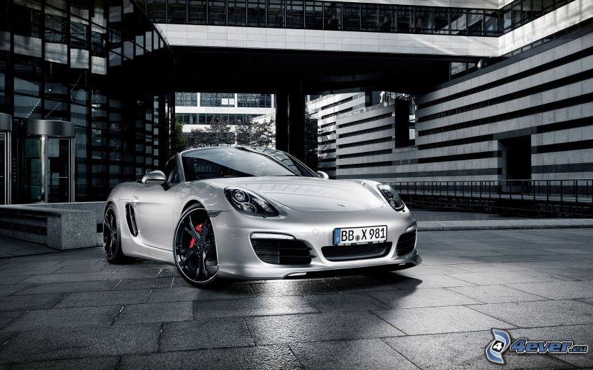 Porsche Boxster, convertible, pavement, building