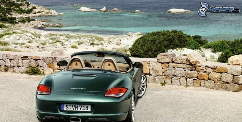 Porsche Boxster, convertible, sea