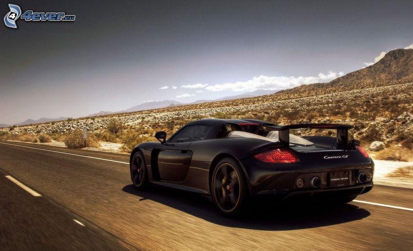 Porsche Carrera GT, speed, road