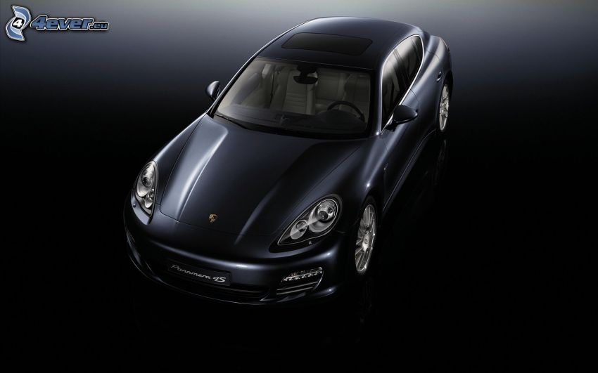 Porsche Panamera, black background