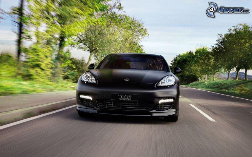 Porsche Panamera, speed, road