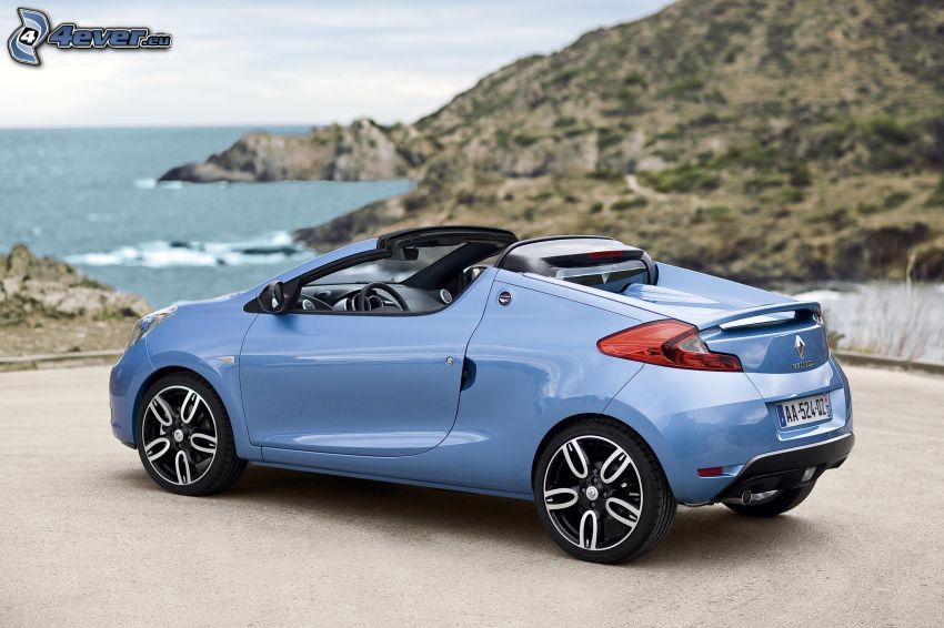 Renault Wind, convertible, sea