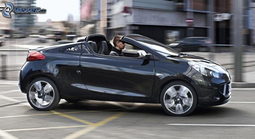 Renault Wind, convertible, speed