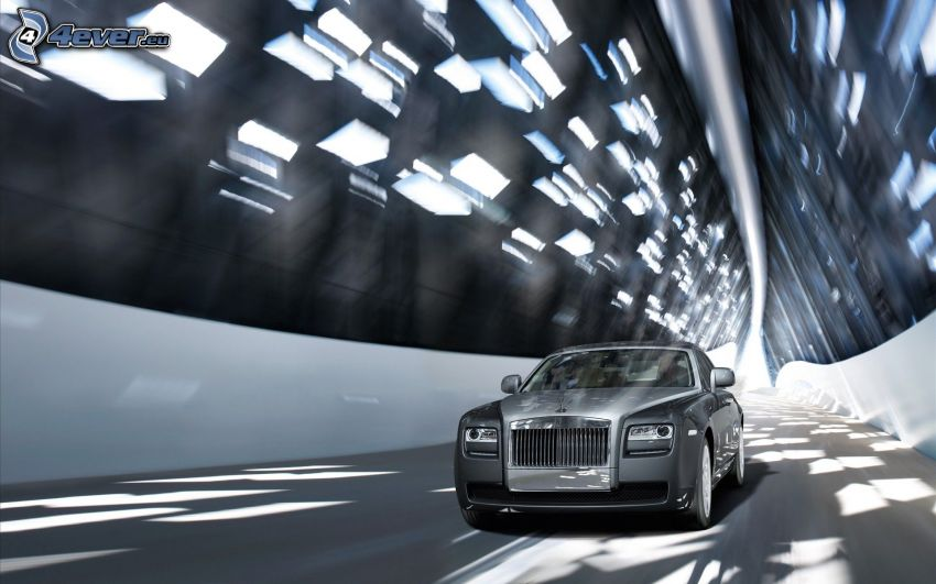 Rolls Royce, tunnel, speed