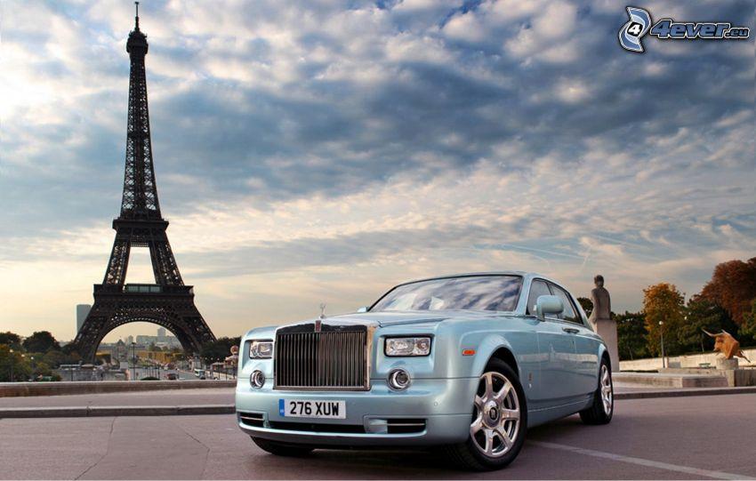Rolls Royce 102EX, Eiffel Tower, France, Paris