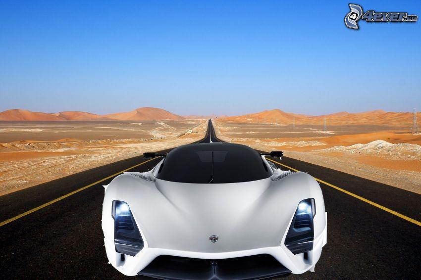SSC Tuatara, road, desert