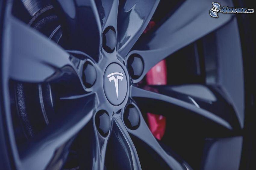 Tesla Model S, rim, brake