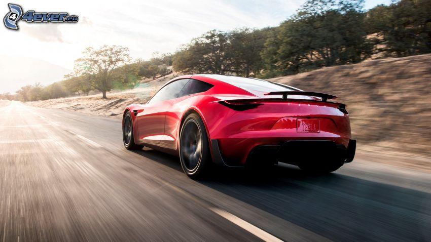 Tesla Roadster 2, speed