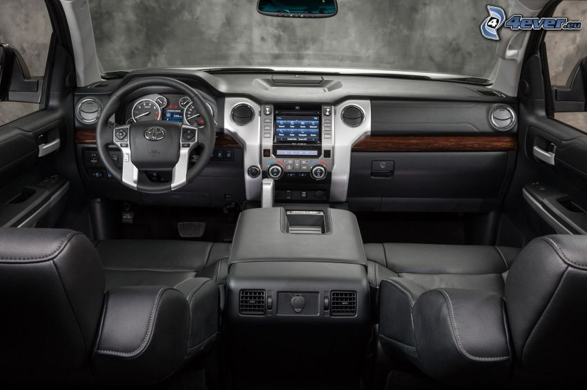 Toyota Tundra, interior, dashboard, steering wheel