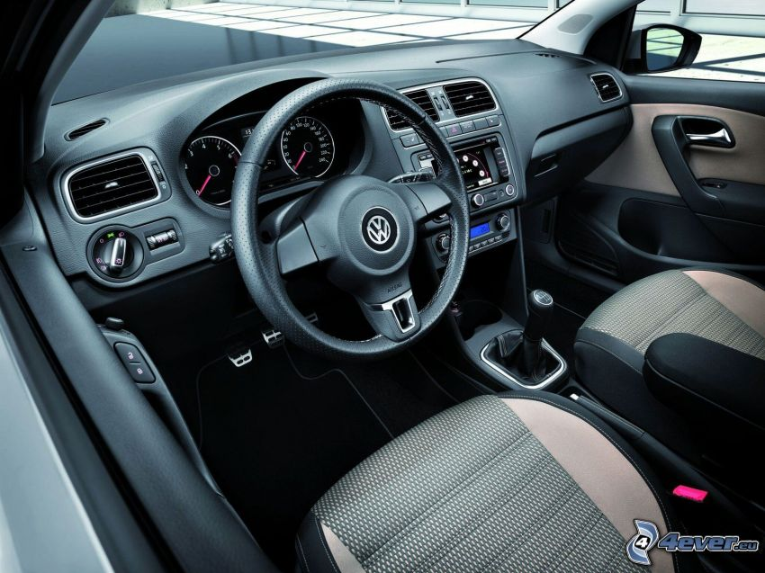 Volkswagen Cross Polo, steering wheel, dashboard, interior