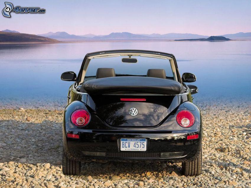 Volkswagen New Beetle Cabrio, sea, coast
