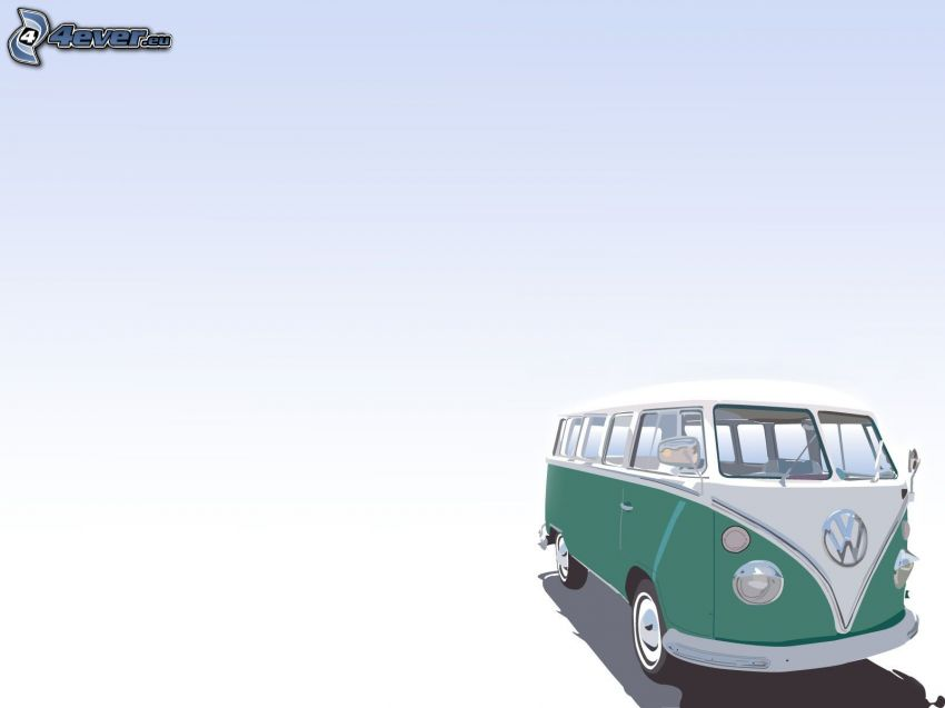 Volkswagen Type 2, cartoon
